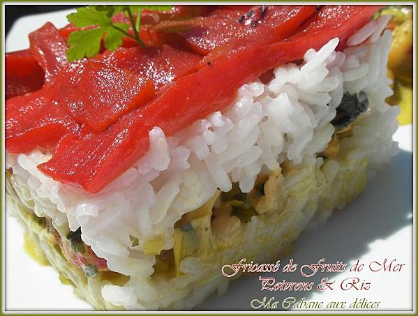 Fricasse de fruits de mer et poivrons photo 2