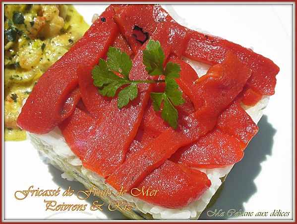 Fricasse de fruits de mer et poivrons photo 3