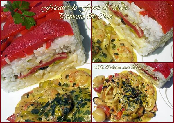 Fricasse de fruits de mer et poivrons photo 4