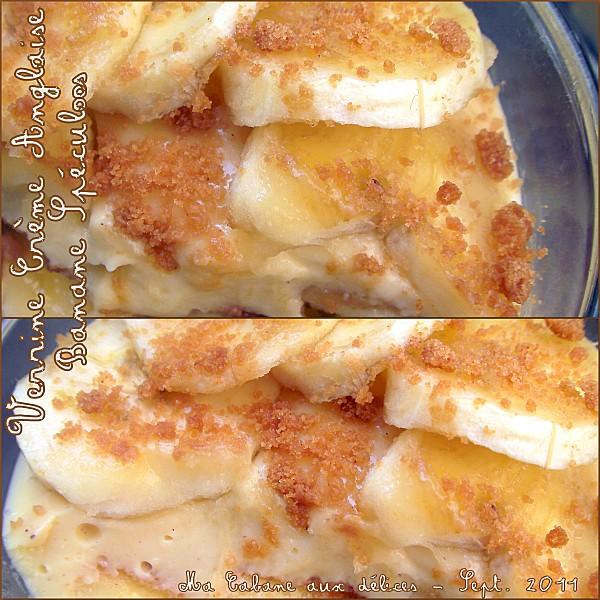 Verrine crème anglaise banane speculoos