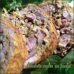 Omelette roulée au poulet photo 1
