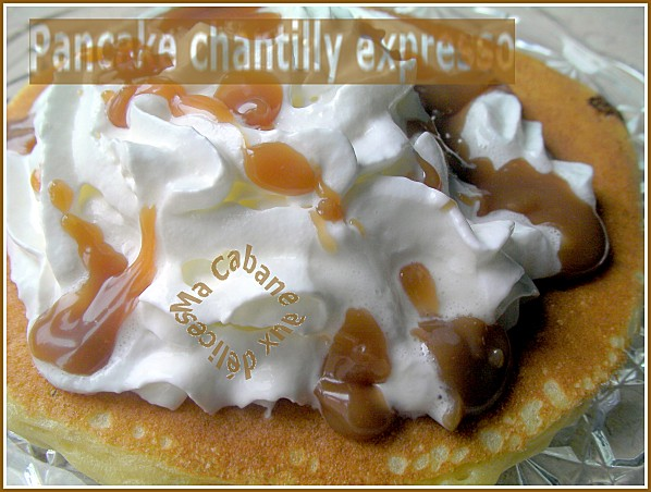 Pancake chantilly expresso