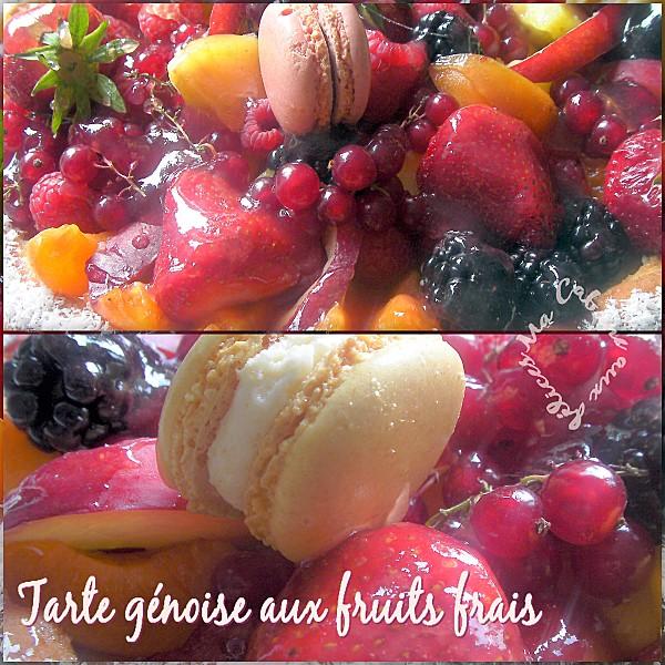 Tarte génoise aux fruits frais montage 2