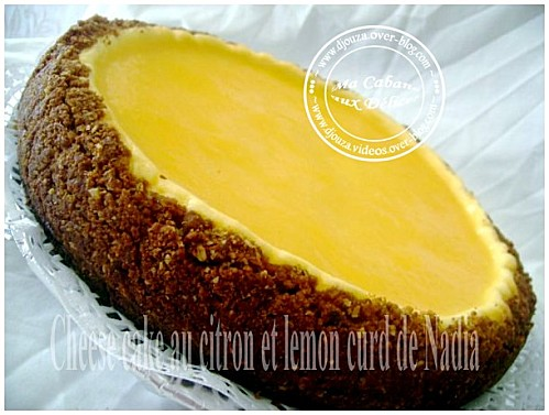 Cheesecake americain au citron et lemon curd
