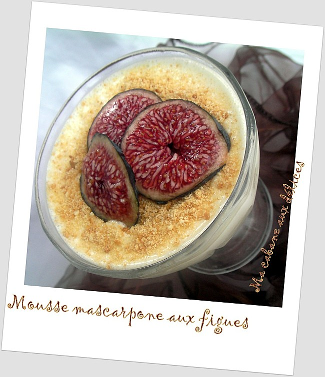 Mousse mascarpone aux figues photo 1