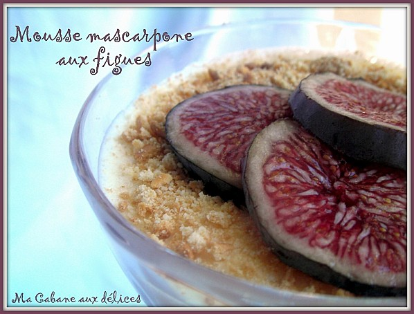 Mousse mascarpone aux figues photo 2