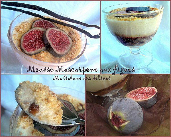 Mousse mascarpone aux figues photo 4