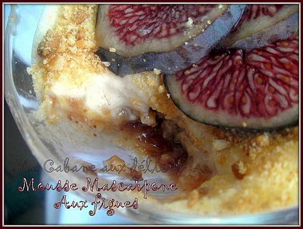 Mousse mascarpone aux figues photo 5