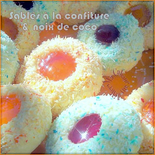 Sablés confiture et noix de coco photo 1