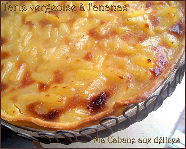 Tarte vergeoise ananas photo 1