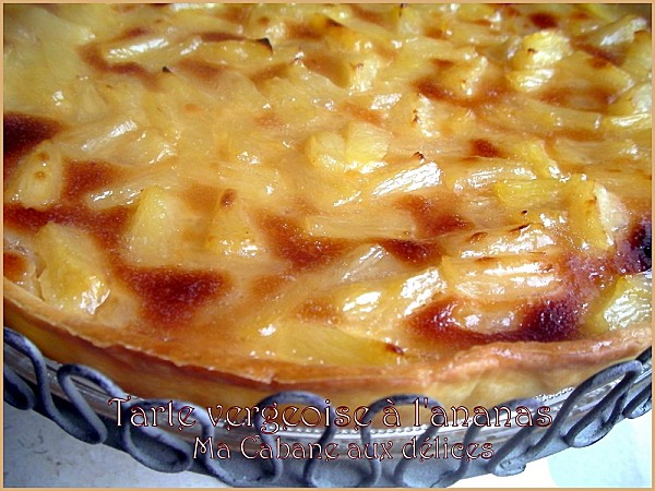 Tarte vergeoise ananas photo 4