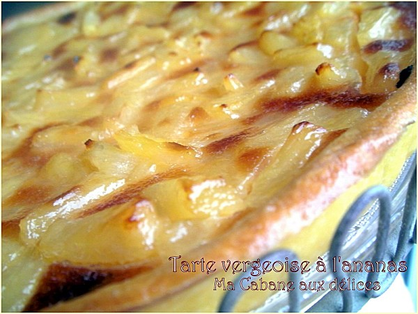 Tarte vergeoise ananas photo 5