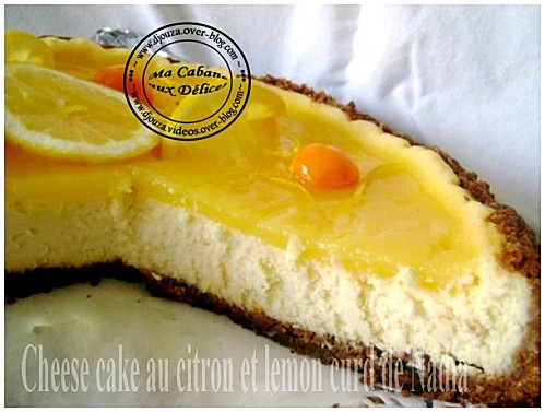 Cheesecake au citron et lemon curd
