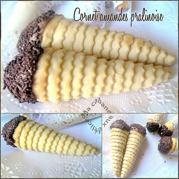 Cornet amandes pralinoises montage 1