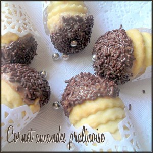cornet amande chocolat