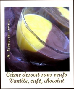 Creme dessert sans oeufs
