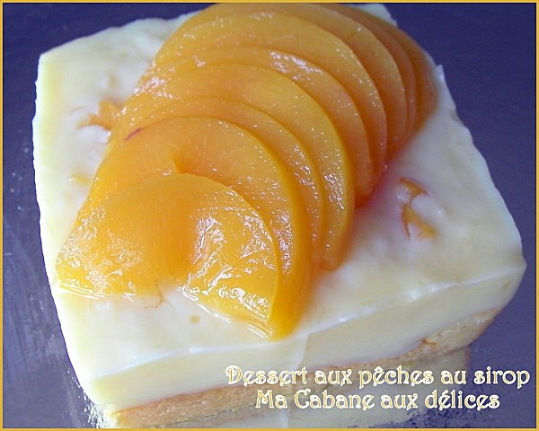 Entremet aux peches photo 1