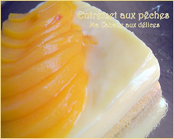 Entremet aux peches photo 5