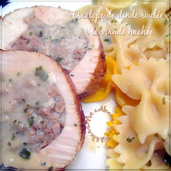 Escalope de dinde roulée à la viande hachée photo 1