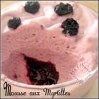 Mousse fruitee aux myrtilles