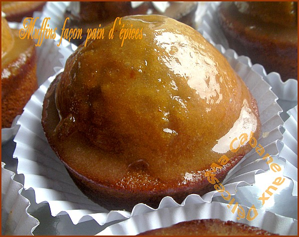 Muffins saveur pain d'épices et confiture d'oranges