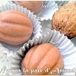 gateau noix en pate d'amandes sans cuisson