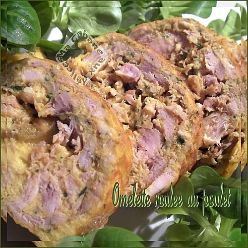 Omelette roulée au poulet photo