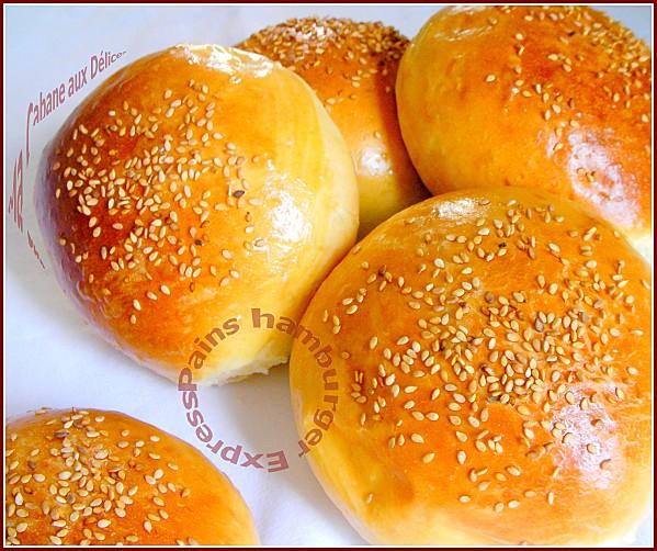Pain Hamburger Maison {recette Express}