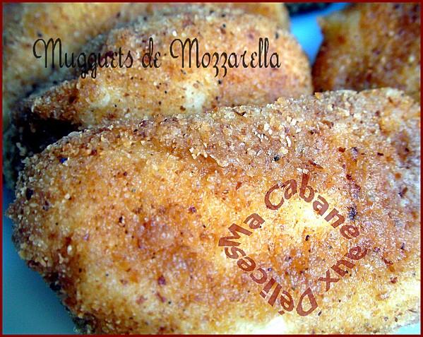 Nuguets de mozzarella frits