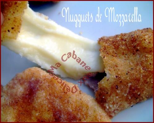 nugguet de mozzarella panes