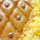 Tamina ou gateau de semoule au miel (كعكة السميد مع العسل)