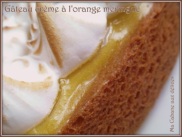 Gateau creme d'oranges meringué photo 2