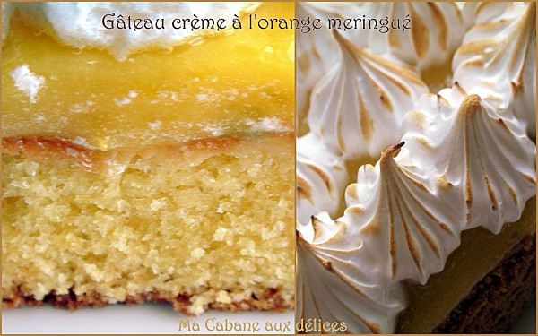 Gateau creme d'oranges meringué photo 3