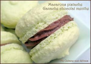 Macarons pistache chocolat menthe