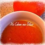Basboussa semoule à la purée d'orange