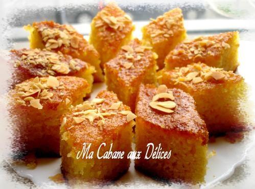 Basboussa g teau de semoule recettes faciles recettes for Amour de cuisine basboussa