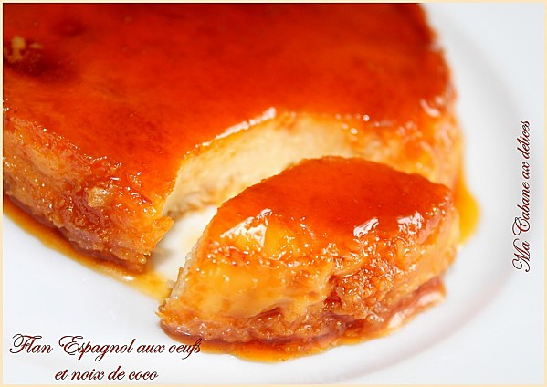 flan espagnol noix de coco photo 1