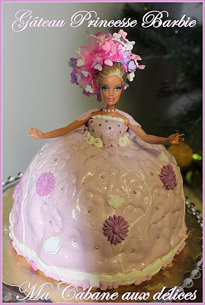 Gateau barbie pate à sucre photo 1