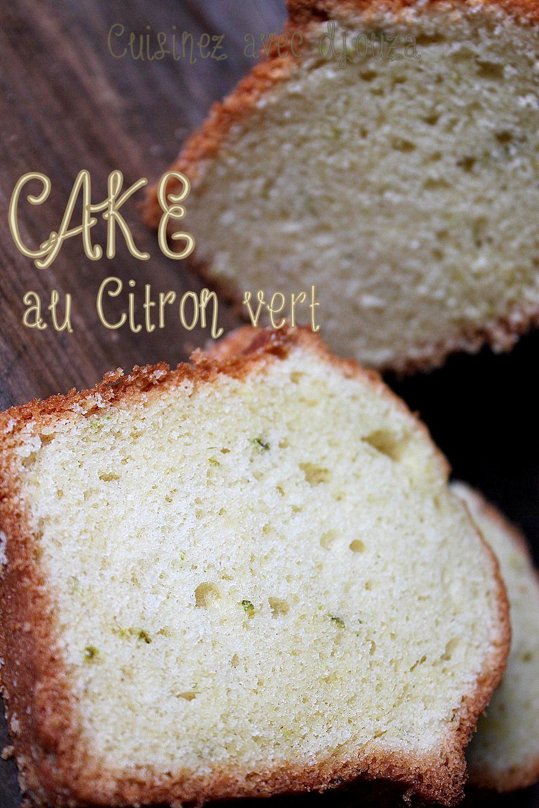 Cake au citron vert facile à faire et moelleux