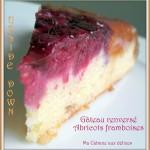 Gâteau renversé framboises abricots
