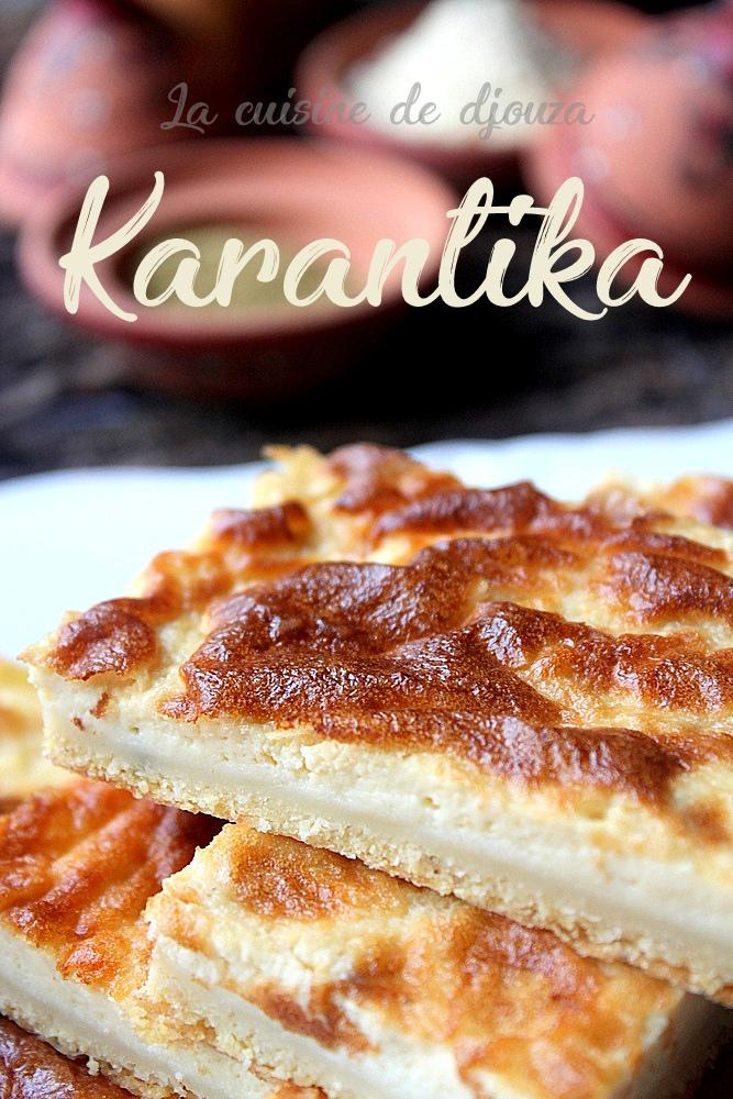 Karantika, flan salé oranais à la farine de pois chiche