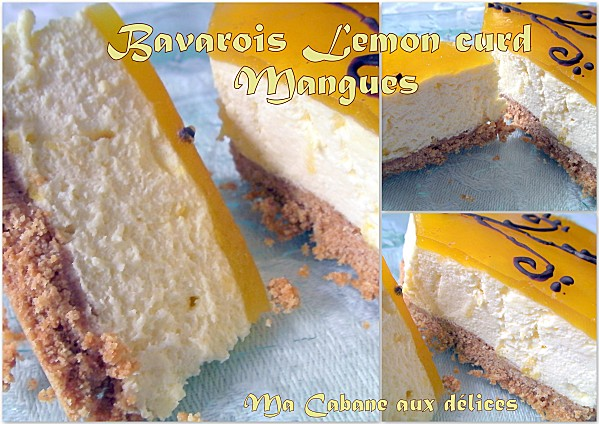 Bavarois lemon curd mangue photo 1