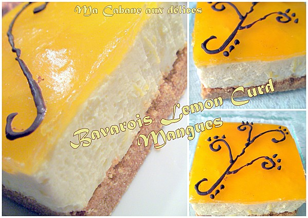 Bavarois lemon curd mangue photo 2