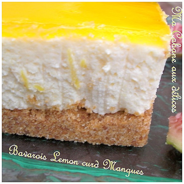 Bavarois lemon curd mangue photo 4