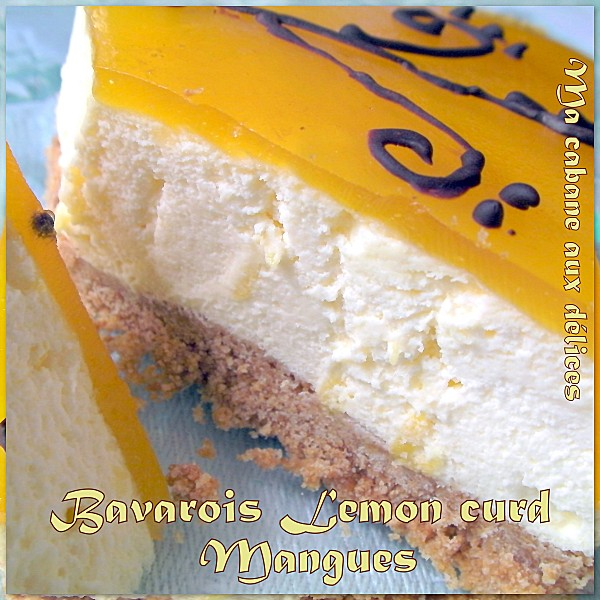 Bavarois lemon curd mangue photo 5
