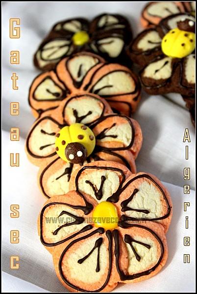 Gateau sec algerien fleur photo 4