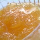 Confiture d'ananas au sirop vanille combawa