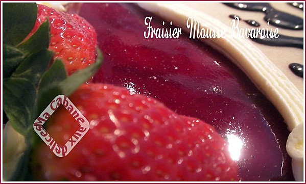 Fraisier mousse bavaroise photo 1