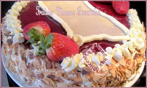 Fraisier mousse bavaroise aux fraises