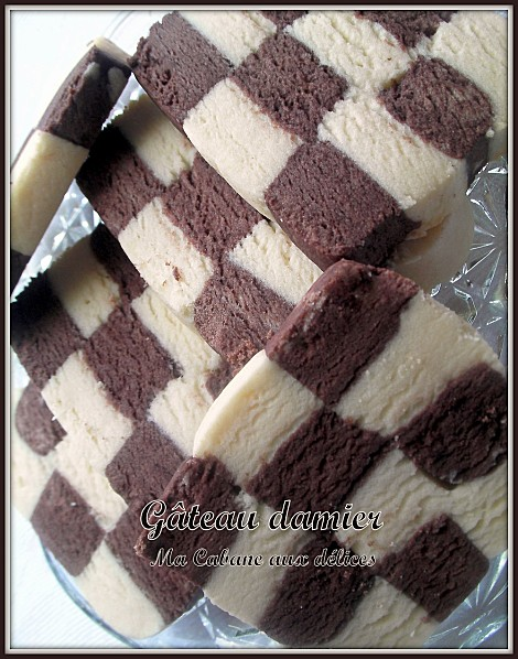 Gateau damier photo 2
